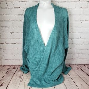 Staccato Sea Blue Knit Sweater Womens S Small Top